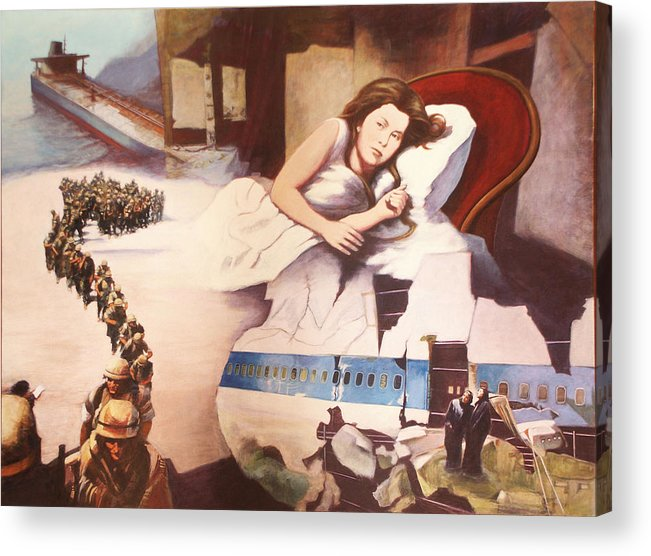 Lewis Caroll's Alice Acrylic Print featuring the painting After Alice by James LeGros