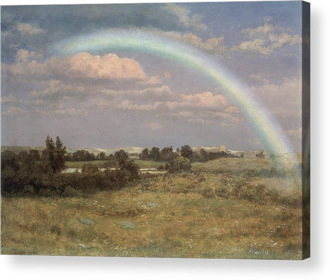 After The Storm Acrylic Print featuring the painting After The Storm by Albert Bierstadt