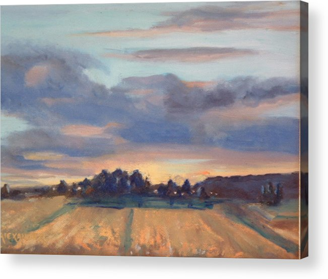 Landscape Acrylic Print featuring the painting After The Storm by Bryan Alexander