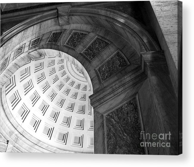 Black And White Acrylic Print featuring the photograph Arch by Jeanne Woods