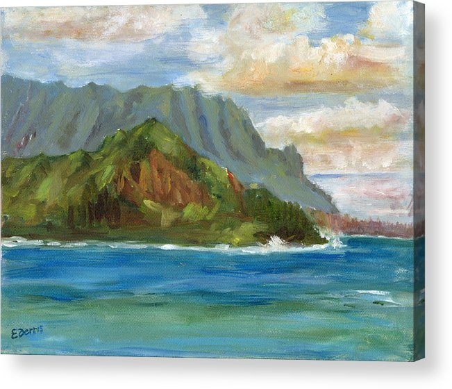 Seascape Acrylic Print featuring the painting Bali Hai by Elizabeth Ferris