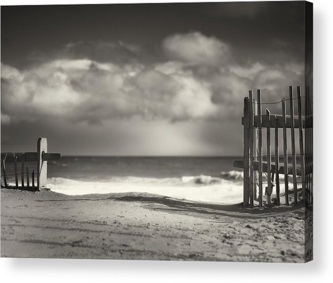 Beach Acrylic Print featuring the photograph Beach Fence - Wellfleet Cape Cod by Dapixara Art