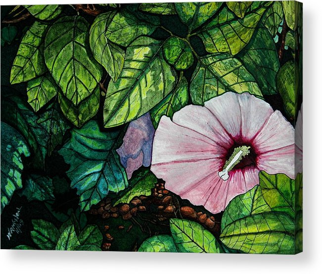 Landscape Acrylic Print featuring the painting Beauty In Bloom by Willie McNeal