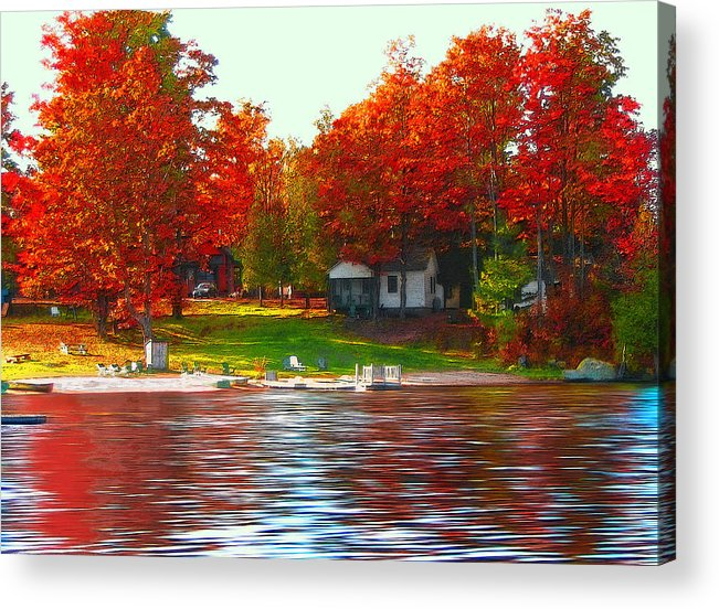 Lake Acrylic Print featuring the photograph Blue Mountain Lake 10 by Steve Ohlsen