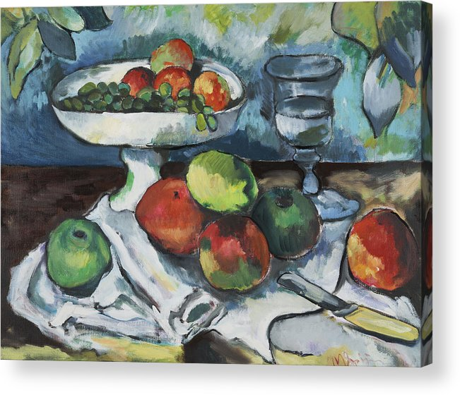 Acrylic Print featuring the painting Cezanne by Michelle Spiziri