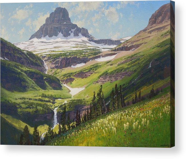 Landscape Acrylic Print featuring the painting Clements Mountain by Lanny Grant
