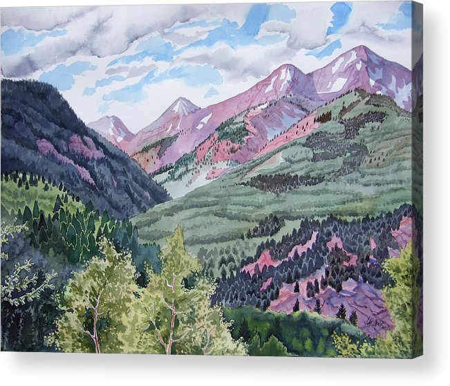 Landscape Acrylic Print featuring the painting Colorado Valley by Jeff Atnip
