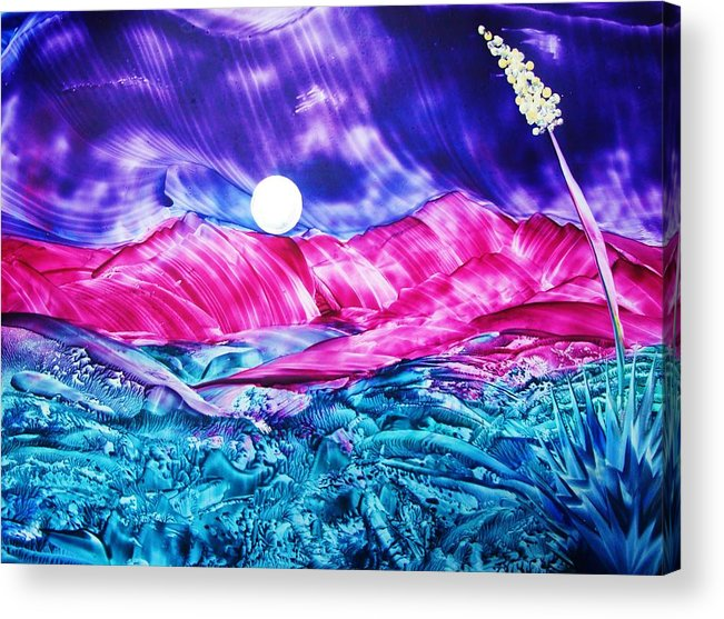 Bold Acrylic Print featuring the print Colorful Desert by Melinda Etzold