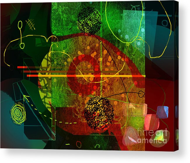 Abstract Acrylic Print featuring the digital art Colorscope by Andy Mercer