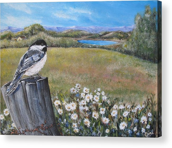 Rural Acrylic Print featuring the painting Contemplating The Journey by Lisa Cini