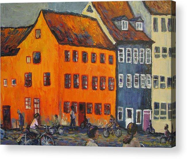 Copenhagen Acrylic Print featuring the painting Copenhagen by Art Nomad Sandra Hansen
