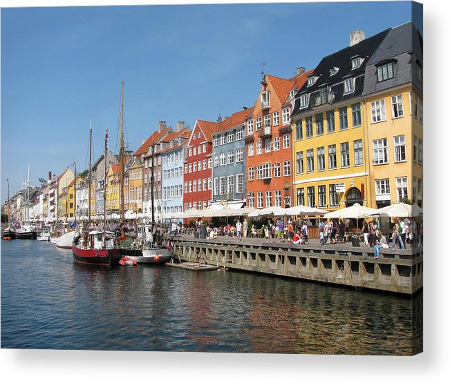 Architecture Acrylic Print featuring the photograph Copenhagen Harbor by Mary Lane
