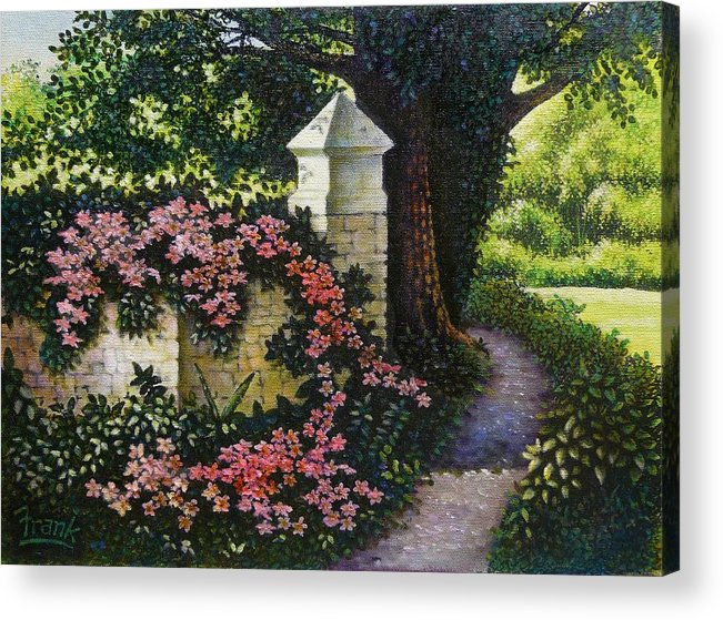 Flowers Acrylic Print featuring the painting Country Path by Michael Frank