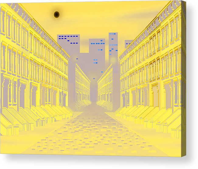 Wall Hanging Acrylic Print featuring the digital art Dark Street by Larry Ryan