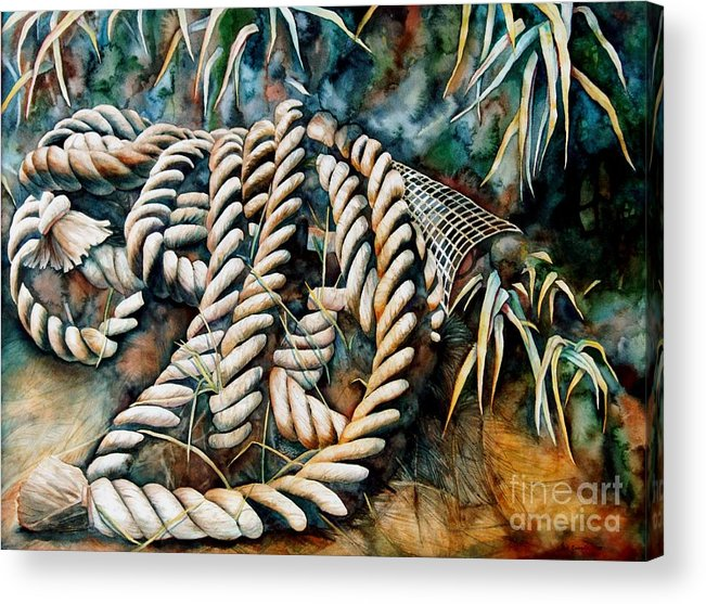 Rope Acrylic Print featuring the painting Delta Days by Gail Zavala