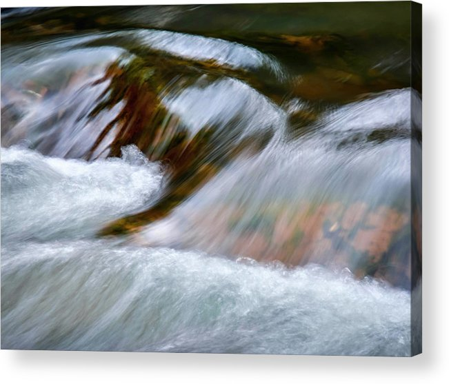 Autumn Acrylic Print featuring the photograph Detail Cascade Fall River by Jozef Jankola