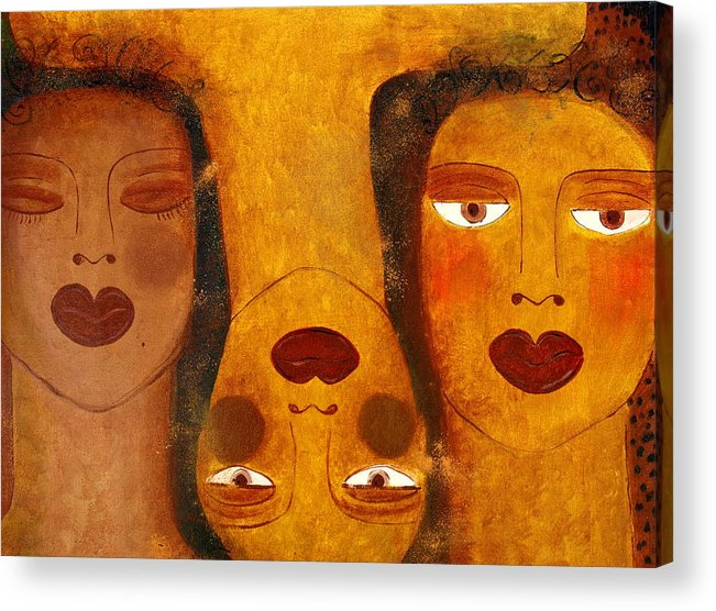 Sisters Artwork Acrylic Print featuring the painting Dreams by Helen Gerro