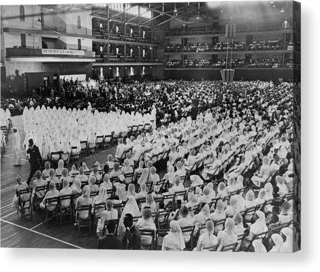 History Acrylic Print featuring the photograph Elijah Muhammad Addressing An Assembly by Everett
