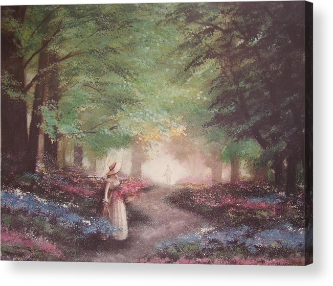 Flowers Acrylic Print featuring the painting Eternal Love by Charles Roy Smith