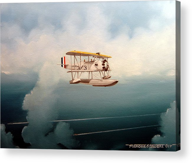 Military Acrylic Print featuring the painting Eyes Of The Fleet by Marc Stewart