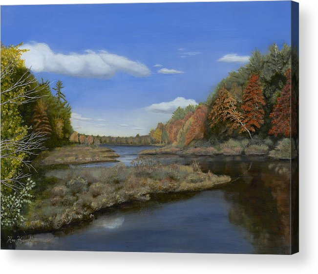 Landscape Acrylic Print featuring the painting Fall Colors by Ron Hamilton
