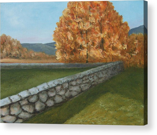 Fall Wall Acrylic Print featuring the painting Fall Wall by Robert Harrington