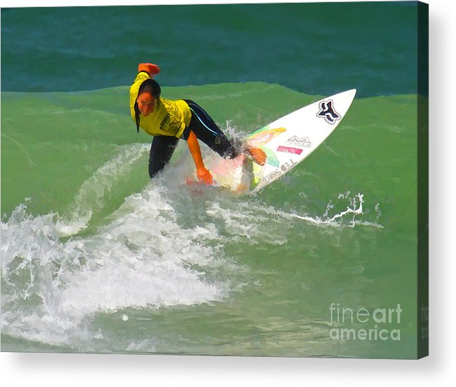 California Acrylic Print featuring the digital art Female Determination by Waterdancer