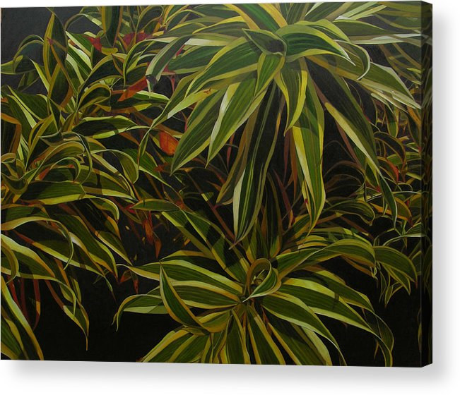 Leaves Acrylic Print featuring the painting First In Cabot by Thu Nguyen