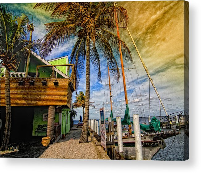 Seascape Acrylic Print featuring the photograph Fisherman Village by Gina Cormier