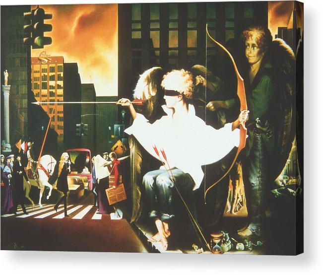 Acrylic Print featuring the painting Five Minutes Before Love by Andrej Vystropov