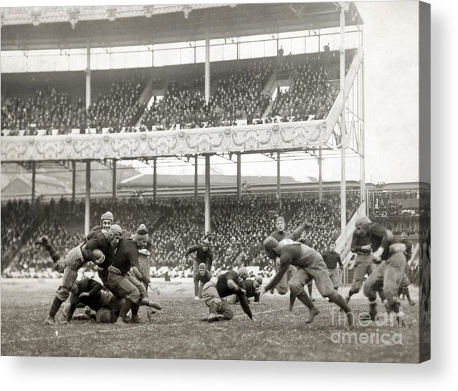 1916 Acrylic Print featuring the photograph Football Game, 1916 by Granger