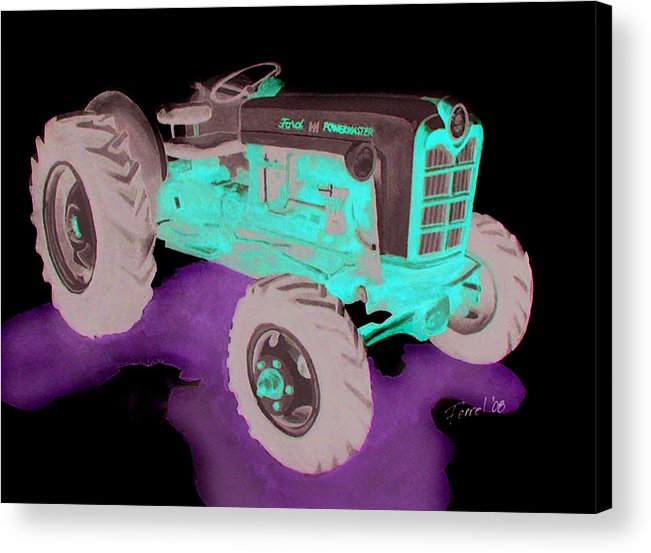 Ford Tractor Acrylic Print featuring the painting Ford Tractor by Ferrel Cordle