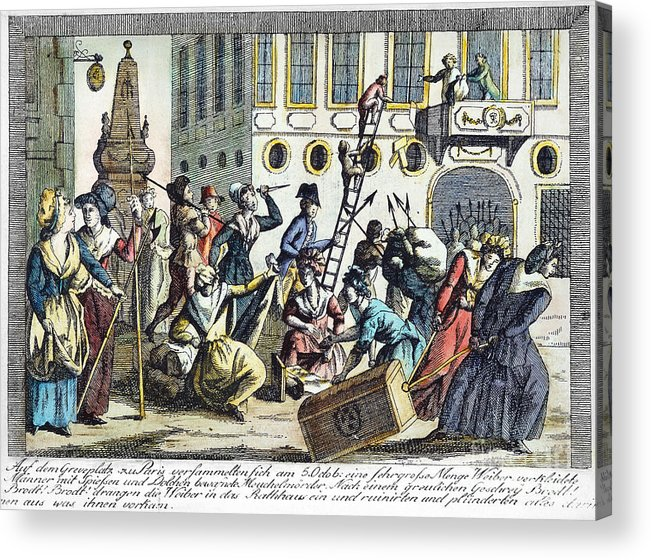 1789 Acrylic Print featuring the photograph French Revolution, 1789 by Granger