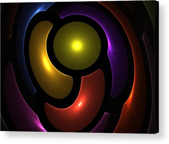 Colorful Acrylic Print featuring the digital art Friendship by Steve K