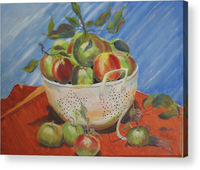 Apples Acrylic Print featuring the painting Future Pie by Libby Cagle