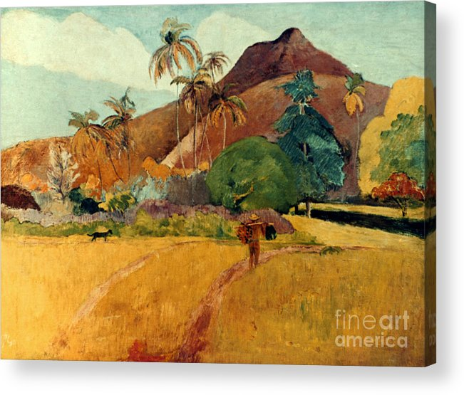 1891 Acrylic Print featuring the photograph Gauguin: Tahiti, 1891 by Granger