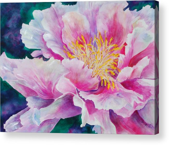 Floral Acrylic Print featuring the painting Glory by Donna Pierce-Clark