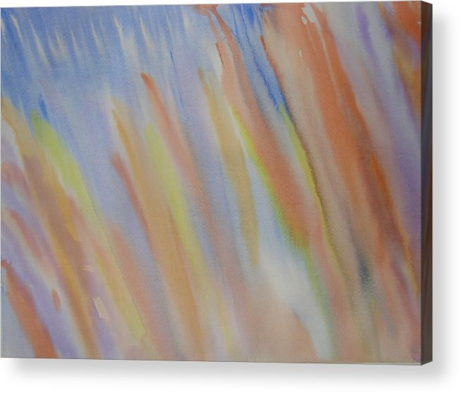 Abstract Acrylic Print featuring the painting Going Upstream by Liz Vernand