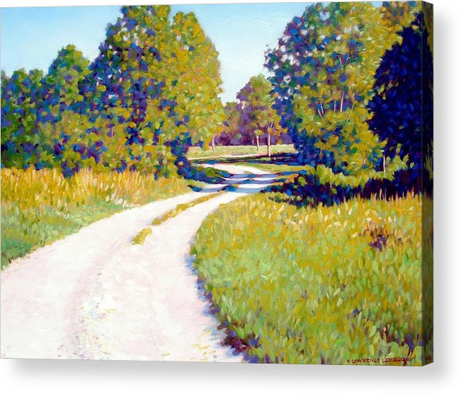 Landscape Acrylic Print featuring the painting Gravel Road by Kevin Lawrence Leveque