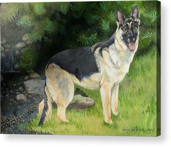 Portrait Acrylic Print featuring the painting Hailey by Eileen Hale