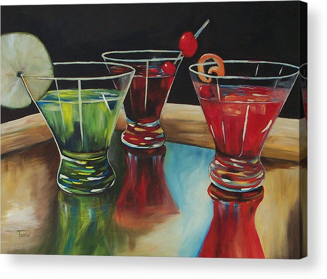 Cosmopolitan Acrylic Print featuring the painting Happy Hour 2007 by Torrie Smiley