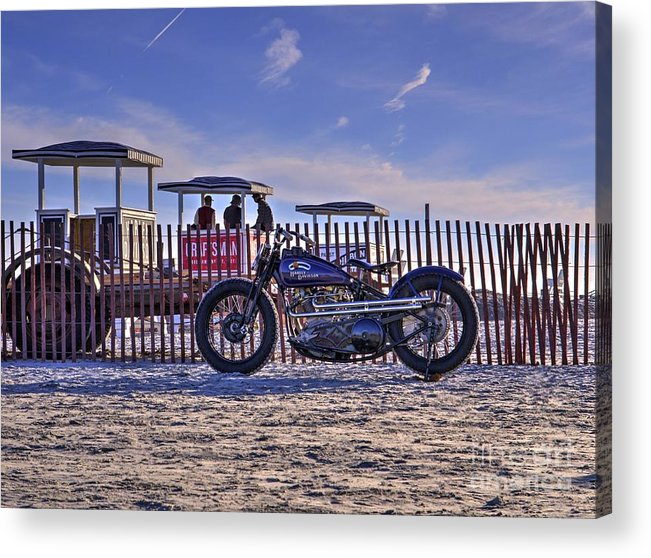 Race Of Gentleman Acrylic Print featuring the photograph Hd Fence Line by Jason Barr
