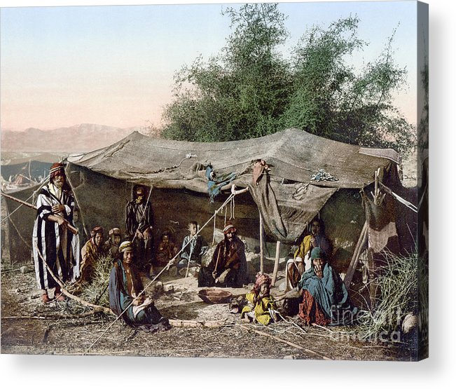 1890s Acrylic Print featuring the photograph Holy Land: Bedouin Camp by Granger