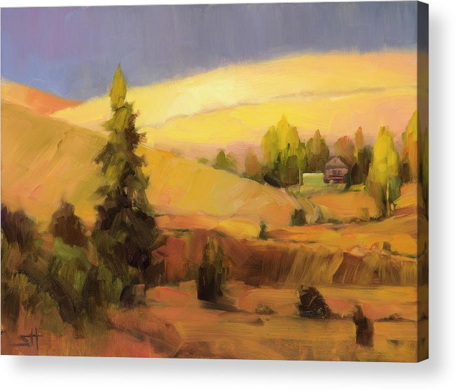 Country Acrylic Print featuring the painting Homeland 2 by Steve Henderson