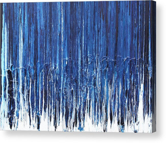Fusionart Acrylic Print featuring the painting Indigo Soul by Ralph White