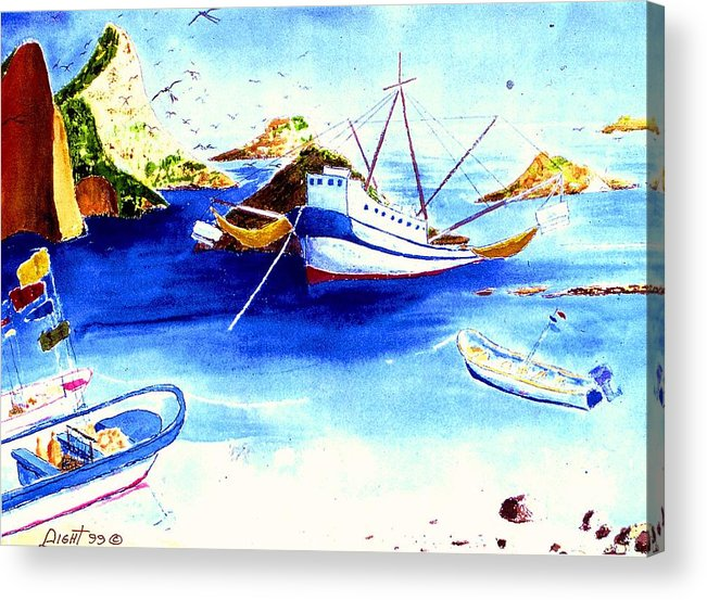 Sescape Acrylic Print featuring the painting Isla Isabela by Buster Dight