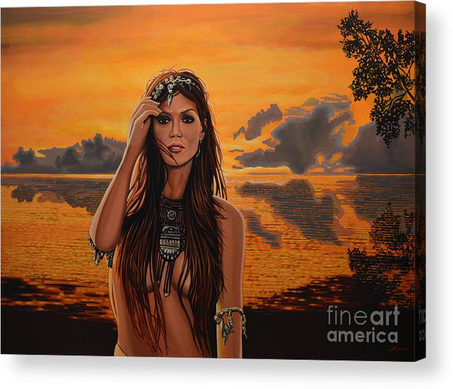 Costa Rica Acrylic Print featuring the painting Jewels Of Costa Rica by Paul Meijering
