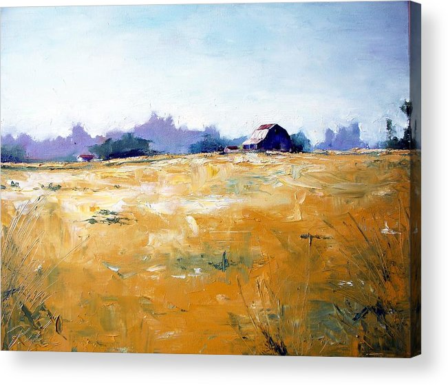 Art Acrylic Print featuring the painting Landscape With Barn by RB McGrath