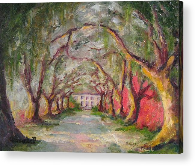 South Carolina Acrylic Print featuring the painting Litchfield Carriage House by Cecelia Campbell