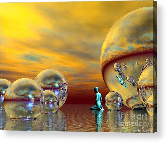 Bryce Acrylic Print featuring the digital art Loneliness by Sandra Bauser Digital Art